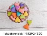 colorful valentine cookies. | Shutterstock . vector #452924920