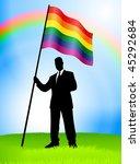 businessman leader holding gay... | Shutterstock .eps vector #45292684
