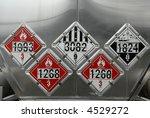 Transportation Placards - stock photo