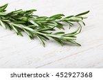 fresh green rosemary plant on... | Shutterstock . vector #452927368