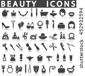 beauty icons collection  ... | Shutterstock .eps vector #452932594