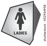 modern toilet icon with... | Shutterstock .eps vector #452934958