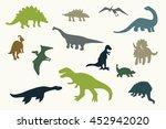dinosaur silhouette set | Shutterstock . vector #452942020