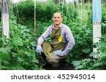 young male gardener working in... | Shutterstock . vector #452945014