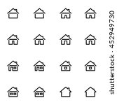 set 3 of line icons... | Shutterstock . vector #452949730