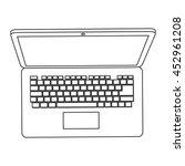 flat design laptop topview icon ...   Shutterstock .eps vector #452961208