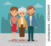 family cartoon concept... | Shutterstock .eps vector #452964349
