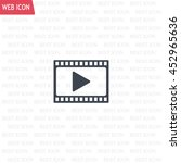 film strip with play   vector... | Shutterstock .eps vector #452965636