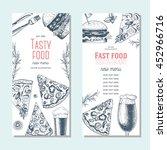 fast food banner set. pizza ...   Shutterstock .eps vector #452966716