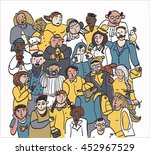 crowd of people card | Shutterstock .eps vector #452967529