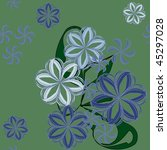 original floral card   Shutterstock .eps vector #45297028