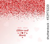 vector card with shimmer.... | Shutterstock .eps vector #452973220