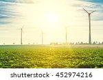 wind turbines   renewable... | Shutterstock . vector #452974216