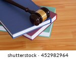 judge gavel and legal books on