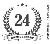 anniversary vintage badge and... | Shutterstock .eps vector #452988826