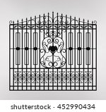 forged gate icon illustration.... | Shutterstock .eps vector #452990434