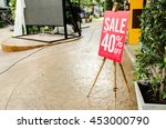 red banner signage discount | Shutterstock . vector #453000790