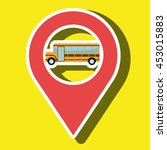 red signal of yellow bus... | Shutterstock .eps vector #453015883