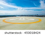 helipad on the roof top of a...   Shutterstock . vector #453018424