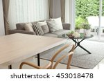 dinning room with table and...   Shutterstock . vector #453018478