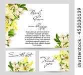 vintage delicate invitation... | Shutterstock .eps vector #453030139