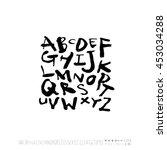 alphabet   number   handwriting ... | Shutterstock .eps vector #453034288