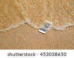 lost phone.phone fell disappear ... | Shutterstock . vector #453038650