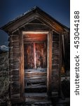 Old Wooden Outhouse Bodie Ghos...