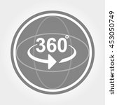 360 degrees view sign icon | Shutterstock .eps vector #453050749