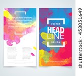 vector design elements template ... | Shutterstock .eps vector #453051649