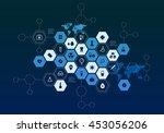 nanotechnology medicine concept ...   Shutterstock . vector #453056206