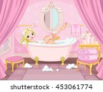 princess taking bath in the... | Shutterstock .eps vector #453061774