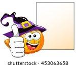 halloween cartoon pumpkin thumb ... | Shutterstock .eps vector #453063658