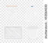 transparent plastic container... | Shutterstock .eps vector #453064030