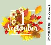 1 september autumn background.... | Shutterstock .eps vector #453068176