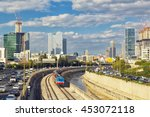tel aviv cityscape at sunset | Shutterstock . vector #453072118