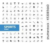 sport icons. vector... | Shutterstock .eps vector #453085660