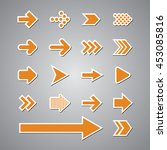 arrow set vector   Shutterstock .eps vector #453085816