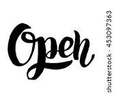 lettering phrase the open ... | Shutterstock .eps vector #453097363