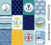 set templates banners or cards... | Shutterstock .eps vector #453101416