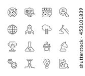 thin line icons set. flat... | Shutterstock .eps vector #453101839