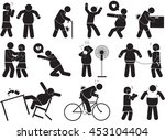 fatty man icon set | Shutterstock .eps vector #453104404