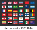 vector set of world flags  usa  ... | Shutterstock .eps vector #45311044