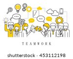 teamwork  people team   on... | Shutterstock .eps vector #453112198