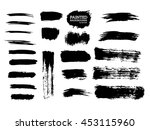 painted grunge stripes set.... | Shutterstock .eps vector #453115960