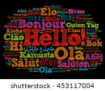 hello word cloud in different... | Shutterstock . vector #453117004