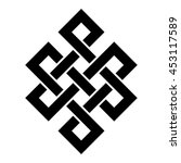 eternity knot  buddhist symbol  ... | Shutterstock .eps vector #453117589