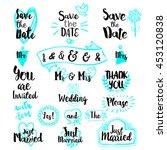 vintage decorative lettering... | Shutterstock .eps vector #453120838