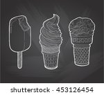 vector vintage hand drawn set... | Shutterstock .eps vector #453126454