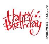 happy birthday   Shutterstock .eps vector #45312670